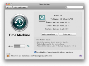Time Maschine - Done.